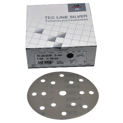 P80 150MM 15 HOLE FILM DISK BOX OF 50 CARSYSTEM TEC LINE SILVER