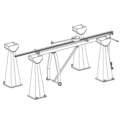 SET OF 4 MOBILE WHEEL STANDS