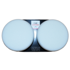 85mm WHITE FOAM VELCRO PAD (PKT 2)